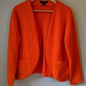 Orange lightweight blazer